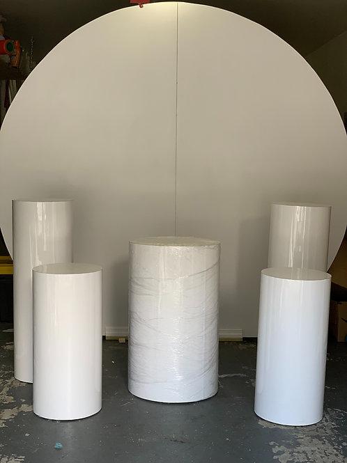 Round Wall White Matte 7.5 x 8 ft