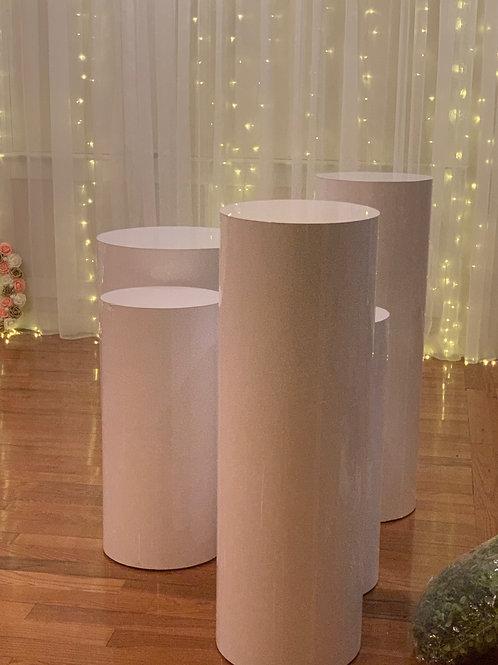 Acrylic White pedestals