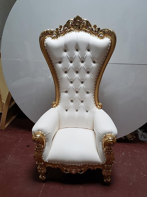 Gold/white throne chairs