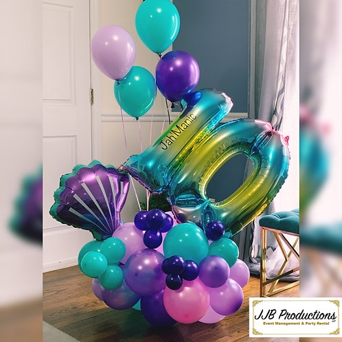 Balloons Number bouquet