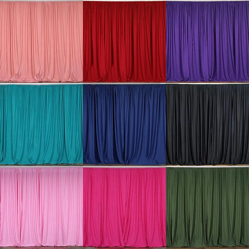 Draping curtain.