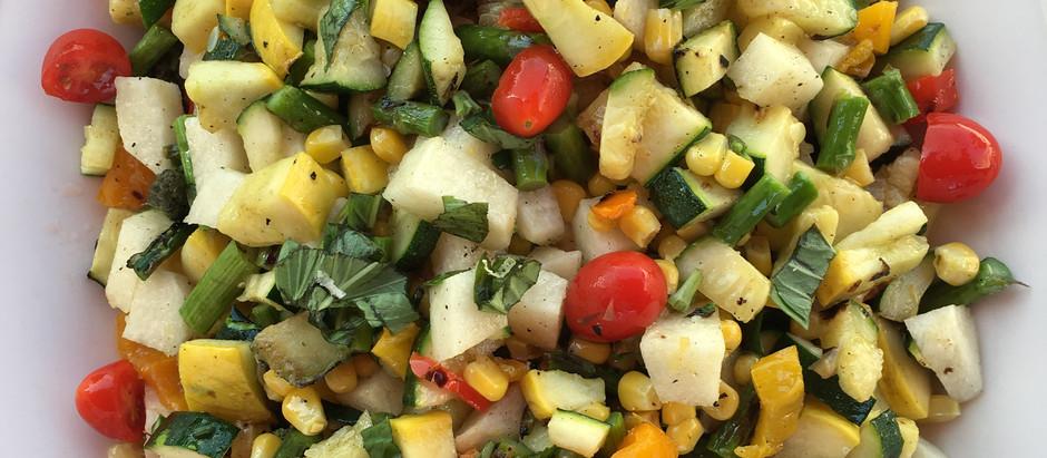 Lemon & Basil Grilled Salad