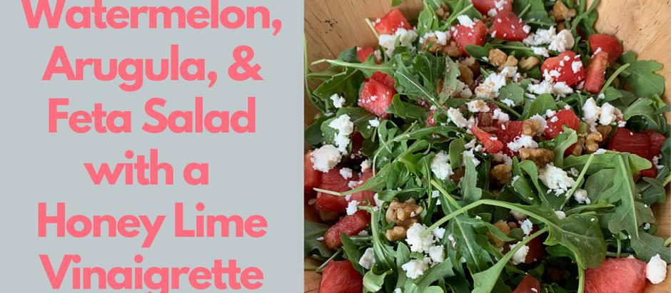 Watermelon, Arugula, & Feta Summer Salad