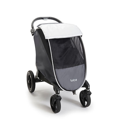 Univerally mountable 3-in-1 stroller cover