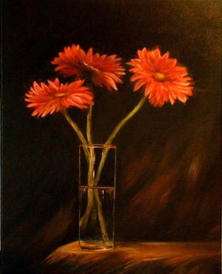 Flowers in a Vase painting_edFlowers in
