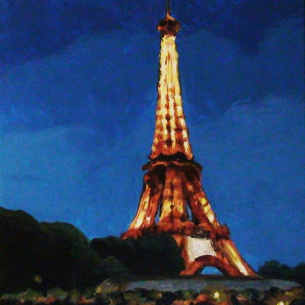Eiffel Tower Impressionistic