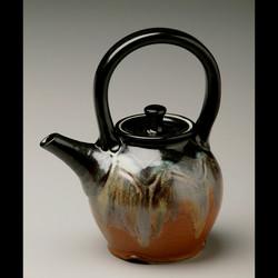 Red Spiral Teapot