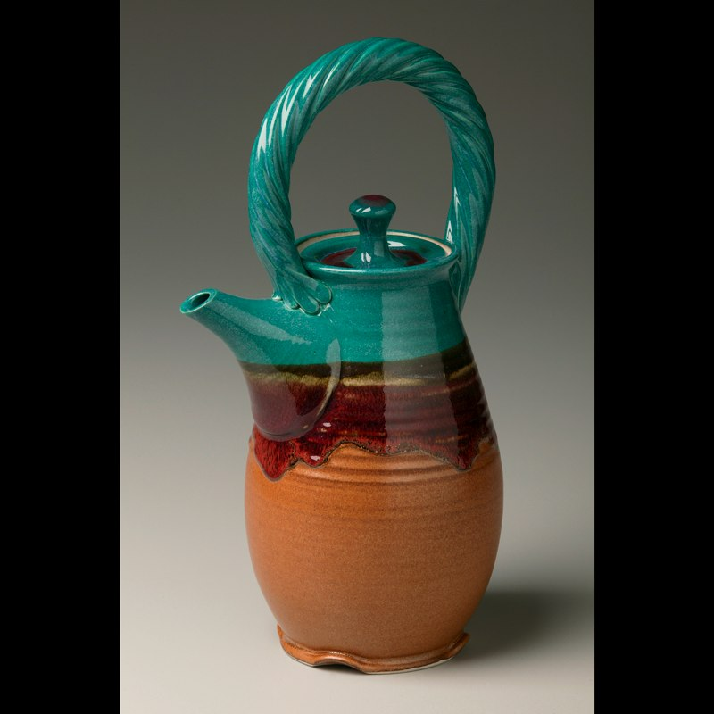 Teal Topped Teapot