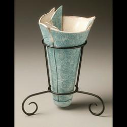 Teal Flower vase