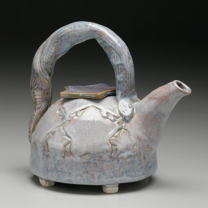 Hand Built Star teapot