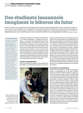 New article - ICT journal (in french)