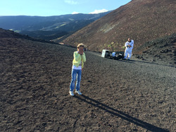 На вершине Вулкана Этны