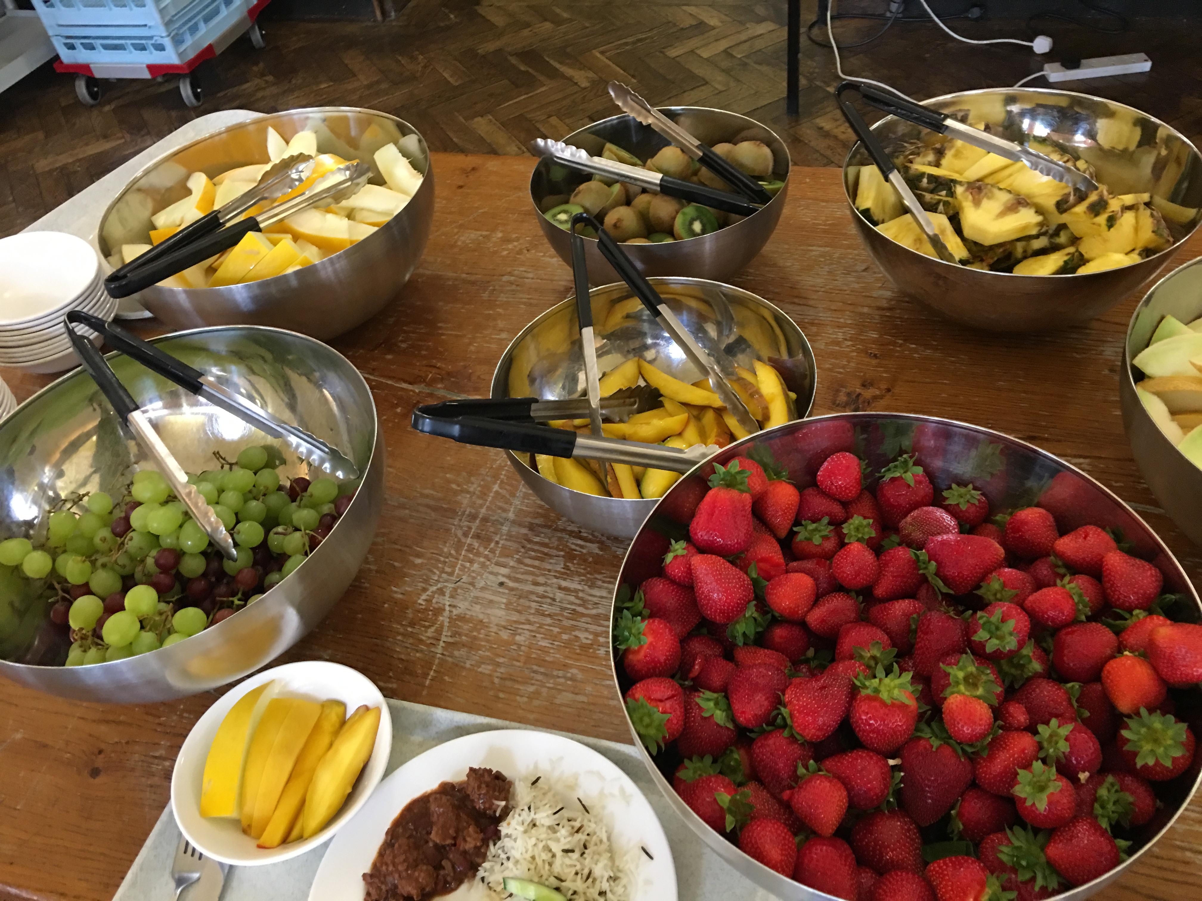 фрукты на обед