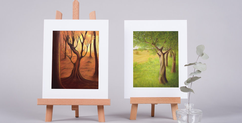 Mounted Fine Art Prints Woodland Dryad Collection