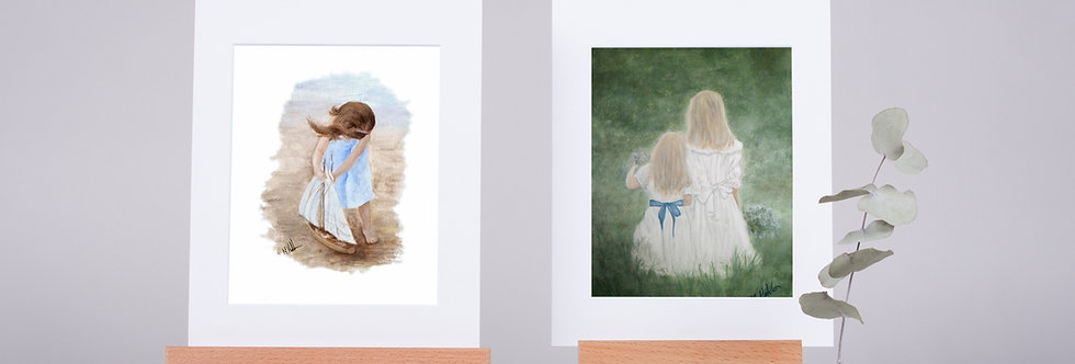 Mounted Fine Art Prints Little Angels Collection