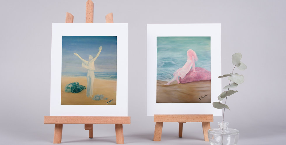 Mounted Fine Art Prints Crystal Spirit Collection