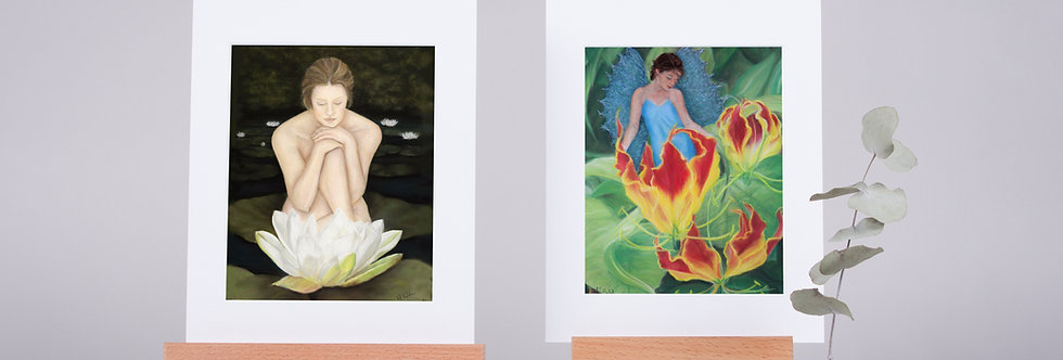 Mounted Fine Art Prints From The Fairies and Devas Collection