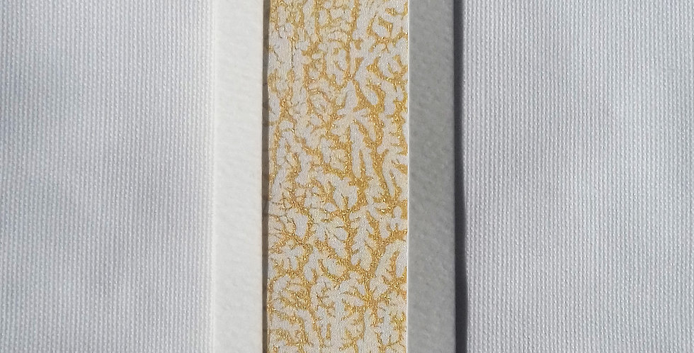 Yellow & Gold Silk Bookmark