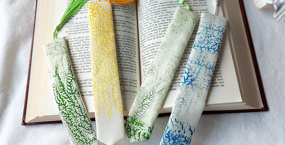 New Long Silk Bookmarks