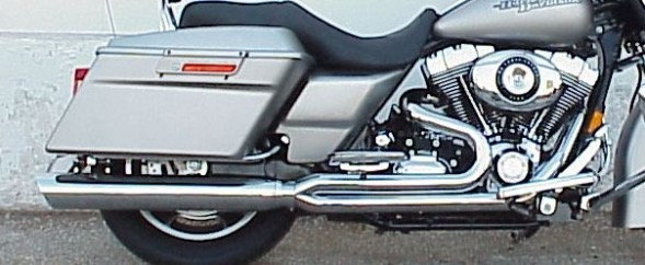1995-2008 HARLEY TOURING CHROME FAT CAT 2:1 FULL SYSTEM