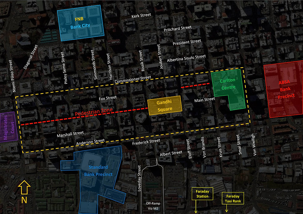 Gandhi Square Precinct Map