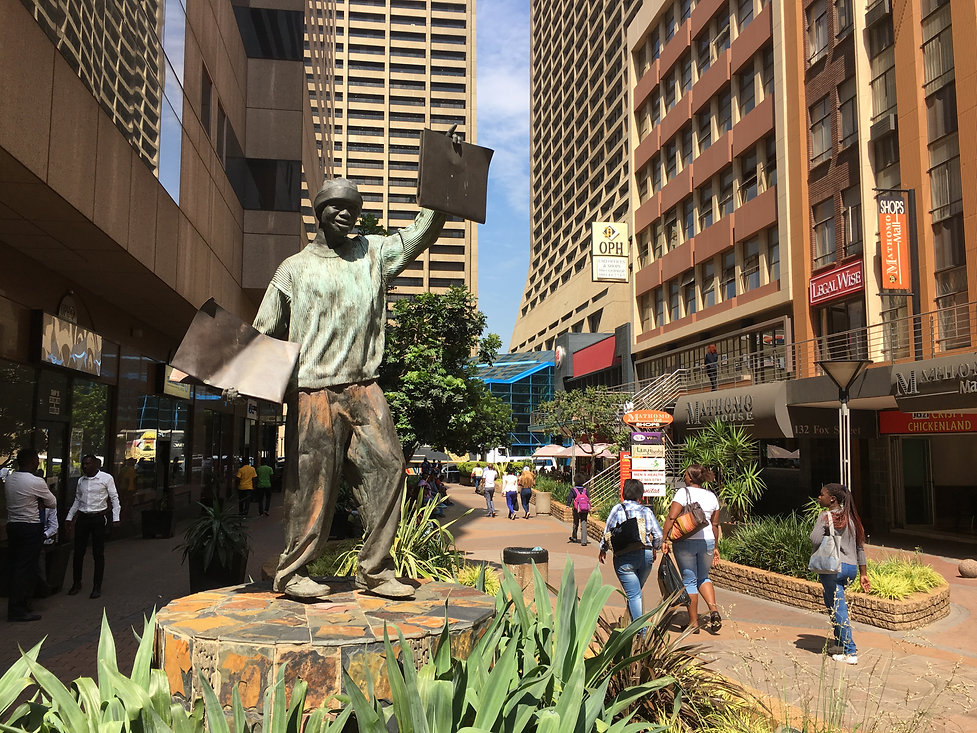 Statue on Fox Street Walkway