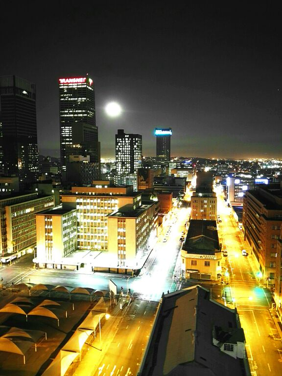 Night view Johannesburg CBD