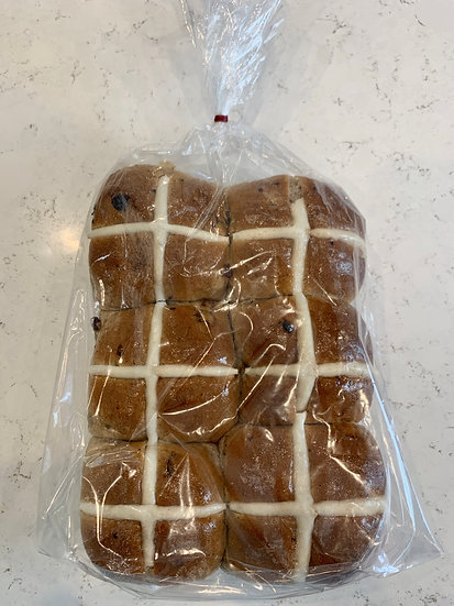 LFYC Traditional Hot X Bun 6 Pack (The Little Flour & Yeast Co.)
