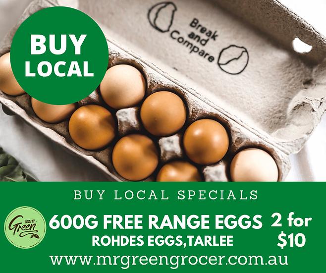 BUY LOCAL SPECIAL 2 x Happy Clucker Eggs 600 g Dozens