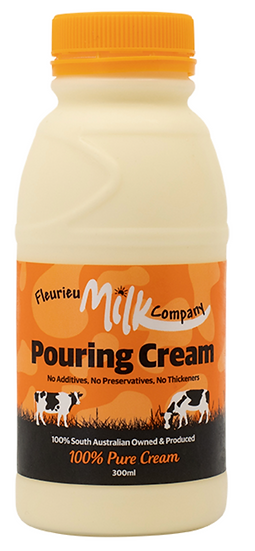 Christmas Fleurieu Milk Co's Pouring Cream 300 ml  (ORANGE LID)