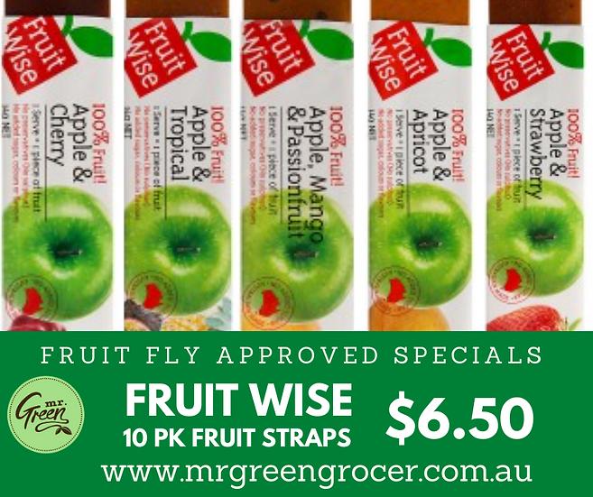 Fruit Wise 10 Pk fruit straps