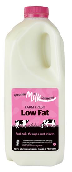 Fleurieu Milk Co's 2 LTR FARM FRESH LOW FAT  (PINK LID)