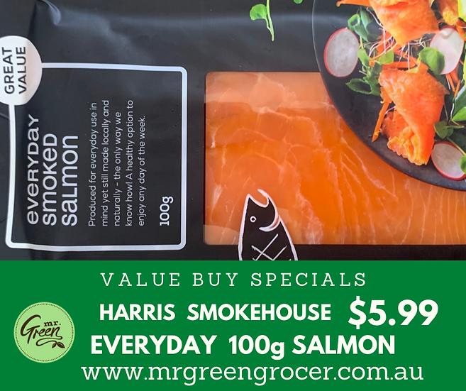 VALUE BUY Harris smokehouse EVERYDAY 100 g smoked salmon