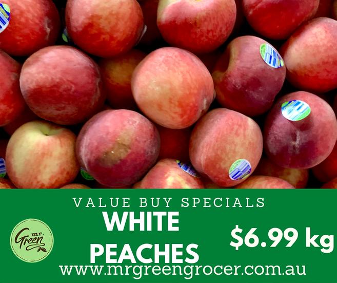 VALUE BUY Riverland White Peaches kg