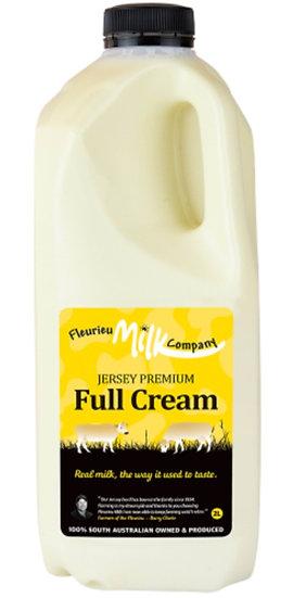 Fleurieu Milk Co's 2 LTR Jersey Premium Full Cream (Homogenised) (BLACK LID)