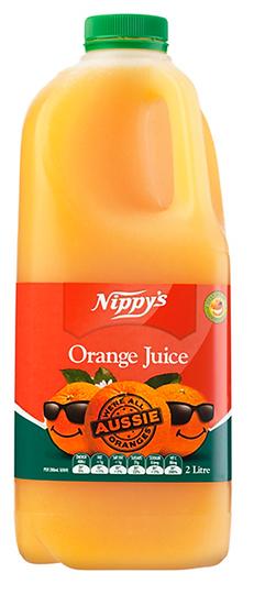Nippy's 2 Ltr Sweetened Orange Juice