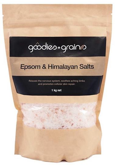 GG Bath Salts Epsom & Himalayan Salt 1KG Goodies & Grains