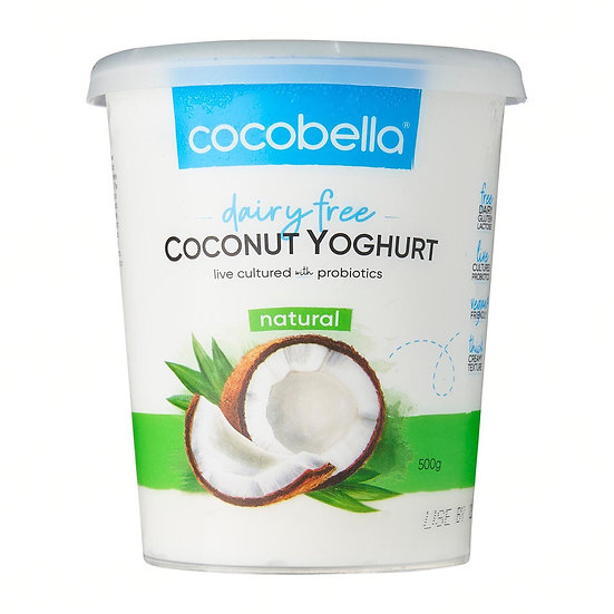 CocoBella natural dairy free yogurt 500ml