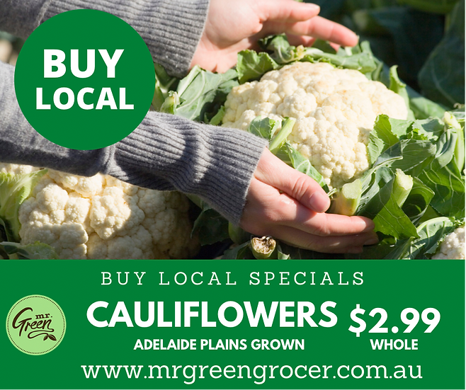 BUY LOCAL SPECIAL WHOLE Cauliflower
