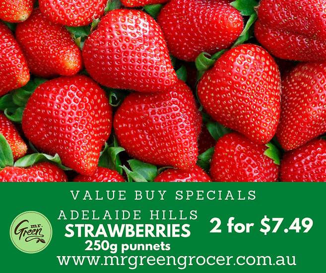 VALUE BUY LOCAL STRAWBERRIES 2 FOR $7.49