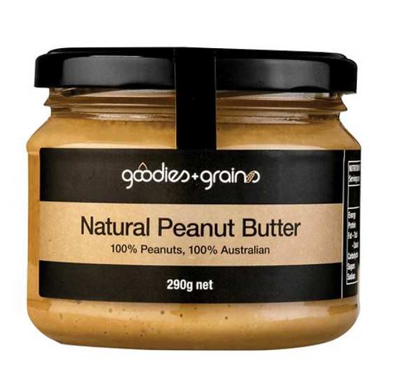 GG Peanut Butter Natural 290g Goodies & Grains