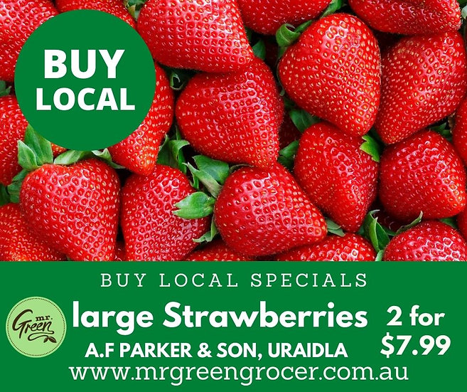 Buy Local LARGE STRAWBERRIES 2 FOR $7.99