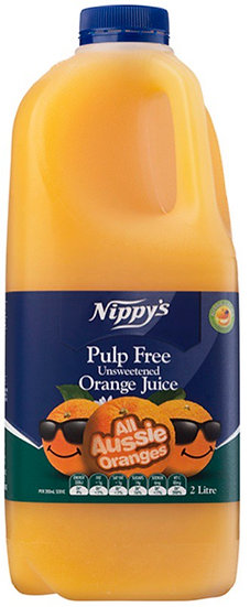 Nippys 2ltr Pulp free orange juice