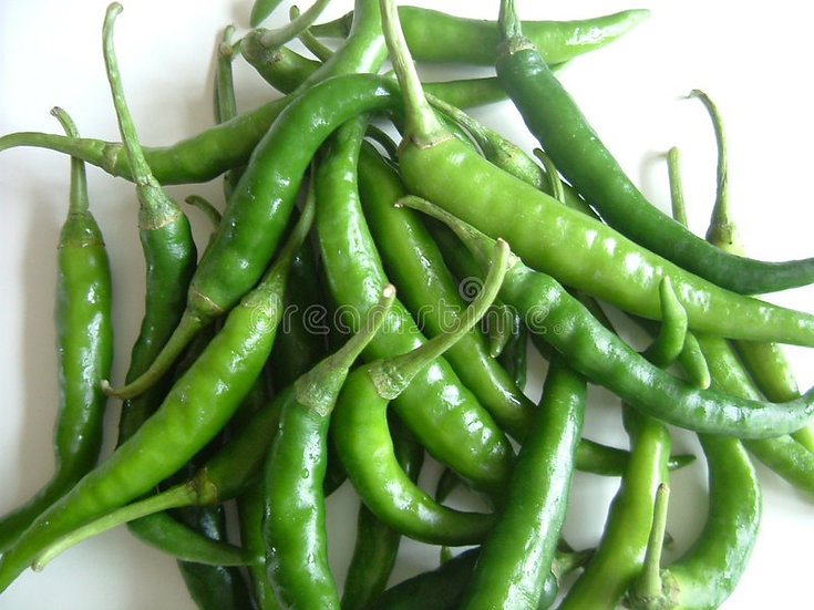 Chillies Long green 50g portion