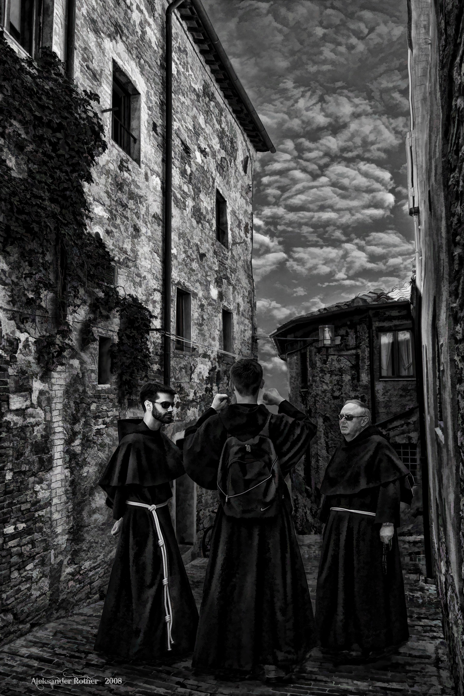 Three Monks in a Conversation