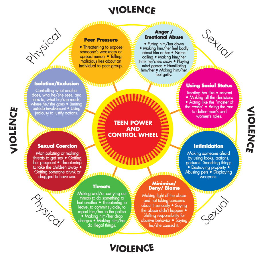 Teen Dating Violence Wheel