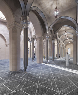Mosque interior after restoration