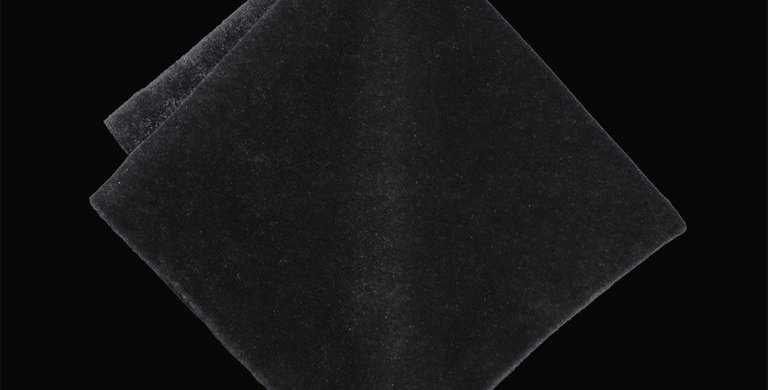 Grey Velvet Pocket Square