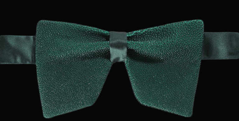 Green Stingray Bow Tie
