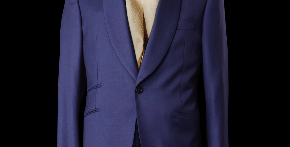 Blue Shawl Lapel Blazer